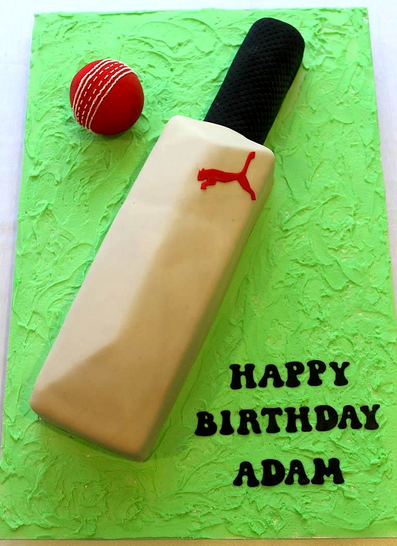 Cricket Bat Amp Ball Cake Bliss