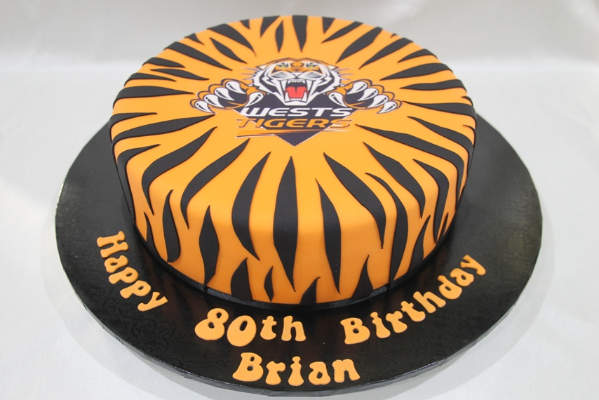 Fine West Tigers Cake Bliss Personalised Birthday Cards Paralily Jamesorg