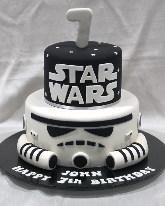 Miraculous Star Wars Storm Trooper Cake Bliss Personalised Birthday Cards Vishlily Jamesorg