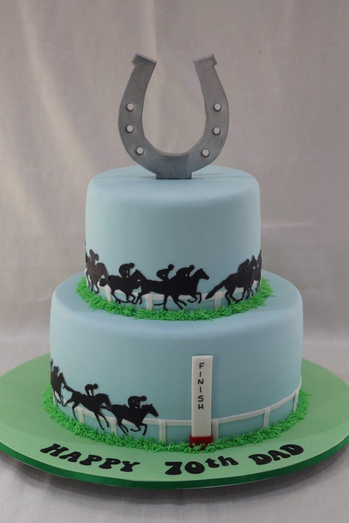 Prime Horse Racing Cake Bliss Birthday Cards Printable Giouspongecafe Filternl